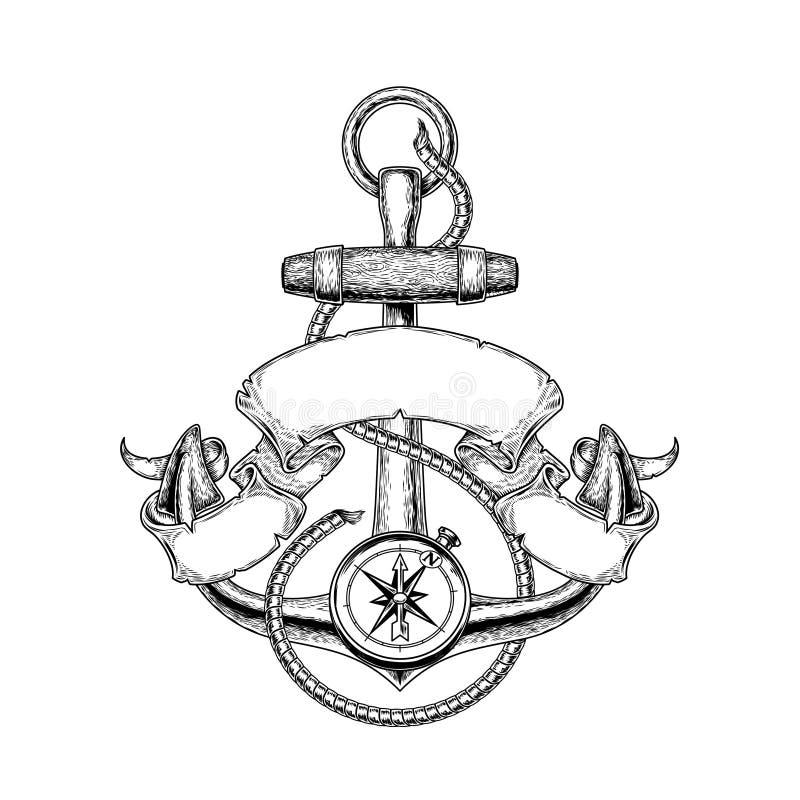 Анкер иллюстрации вектора морской иллюстрация штока