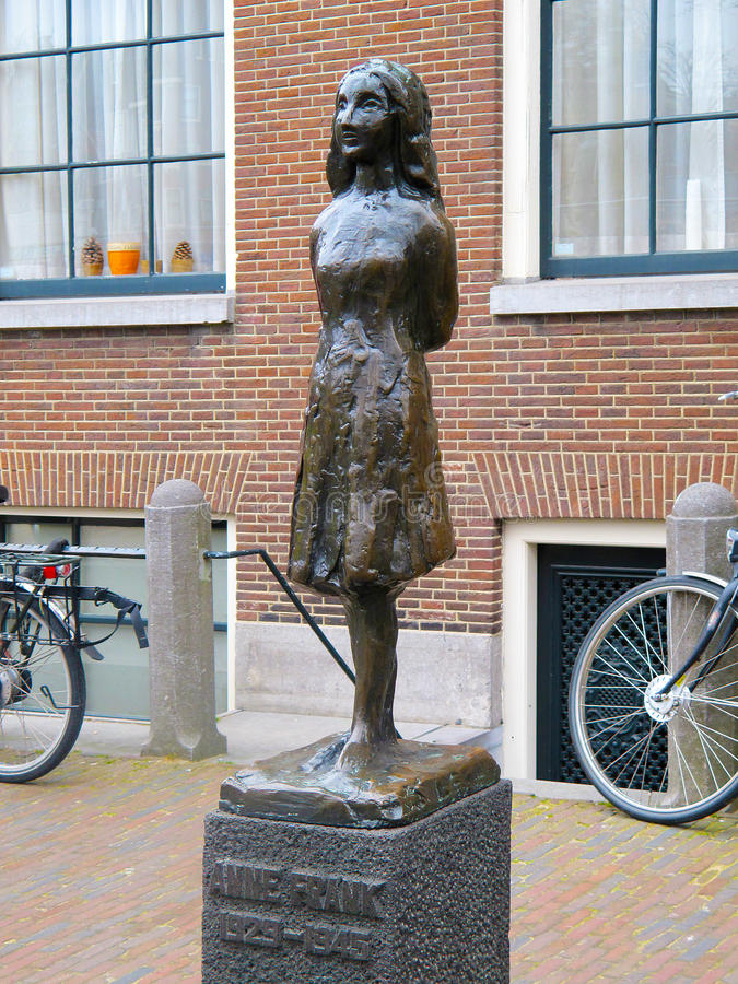 Анна Франк в Амстердаме 0822 стоковое фото rf