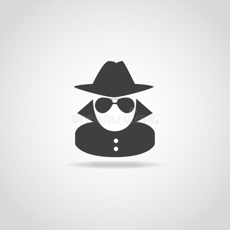 Анонимный значок шпионки бесплатная иллюстрация