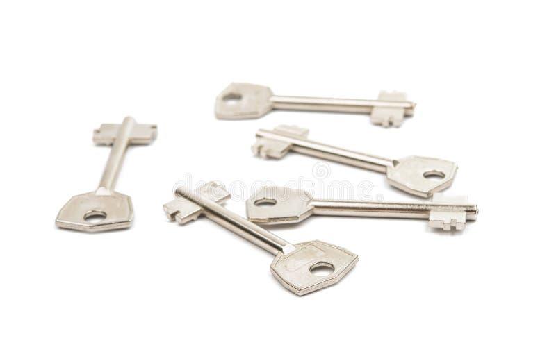 Анодированные ключи металла стоковое фото