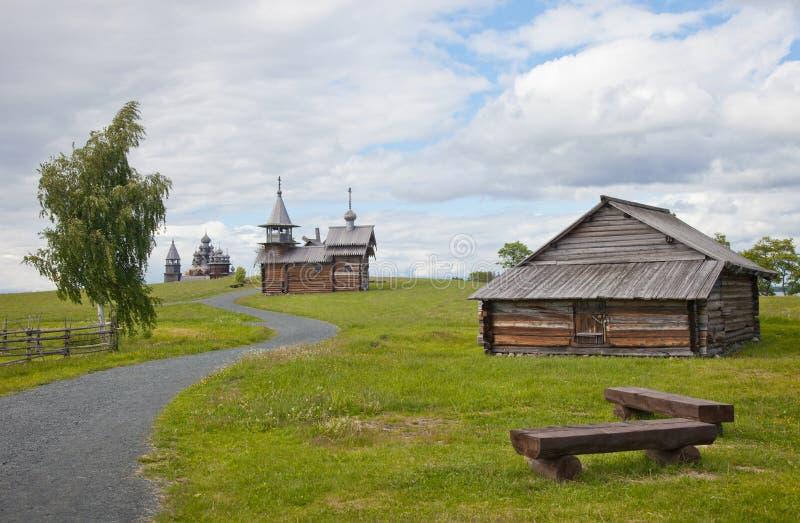 Ансамбль Kizhi Pogost и объектов деревянной архитектуры стоковые фото