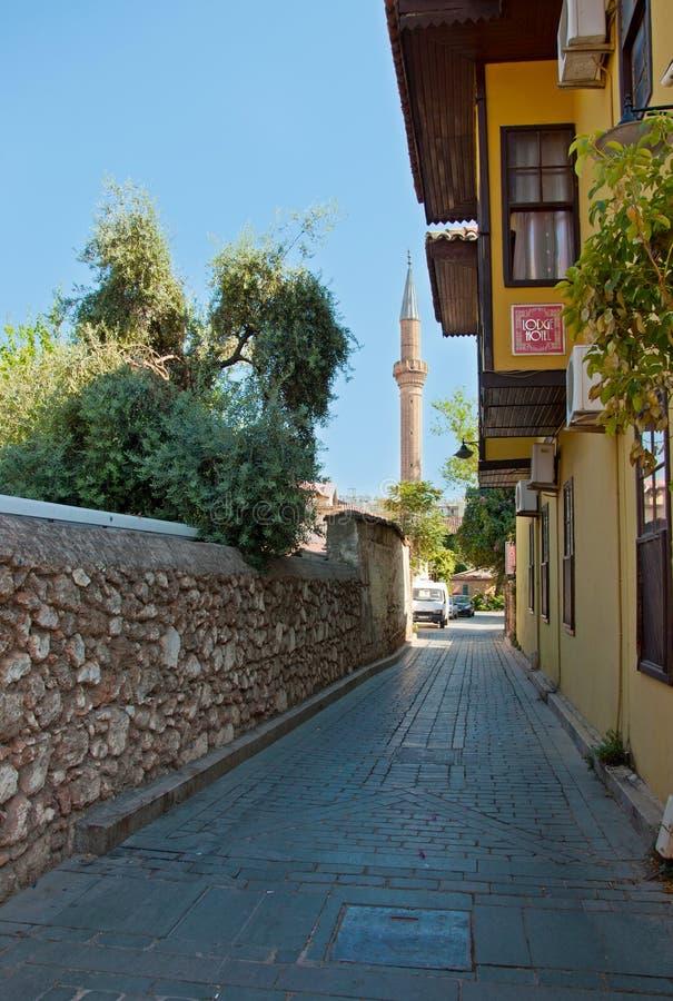 Анталья, Турция - 22-ое сентября 2018: Улица старого городка Kaleici в Анталье, Турции стоковое фото rf