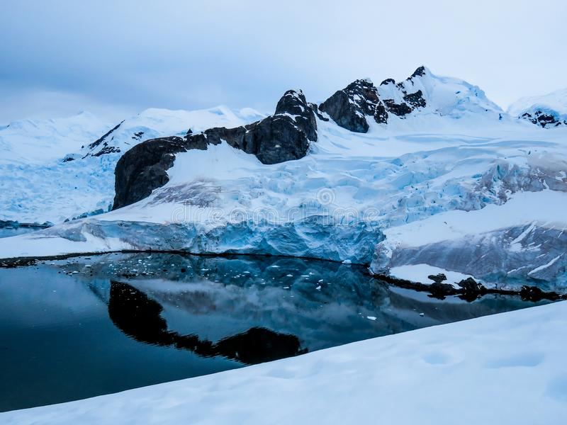 Антарктика в зиме стоковое фото rf