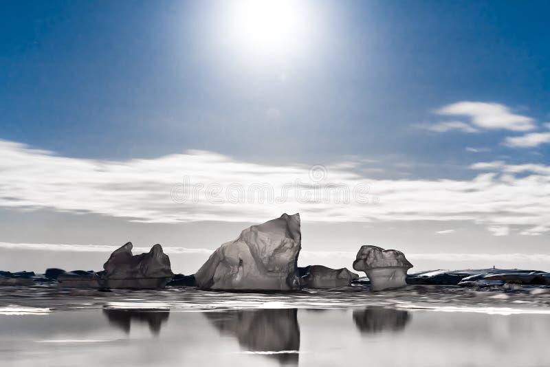 Антартическая ноча стоковая фотография rf