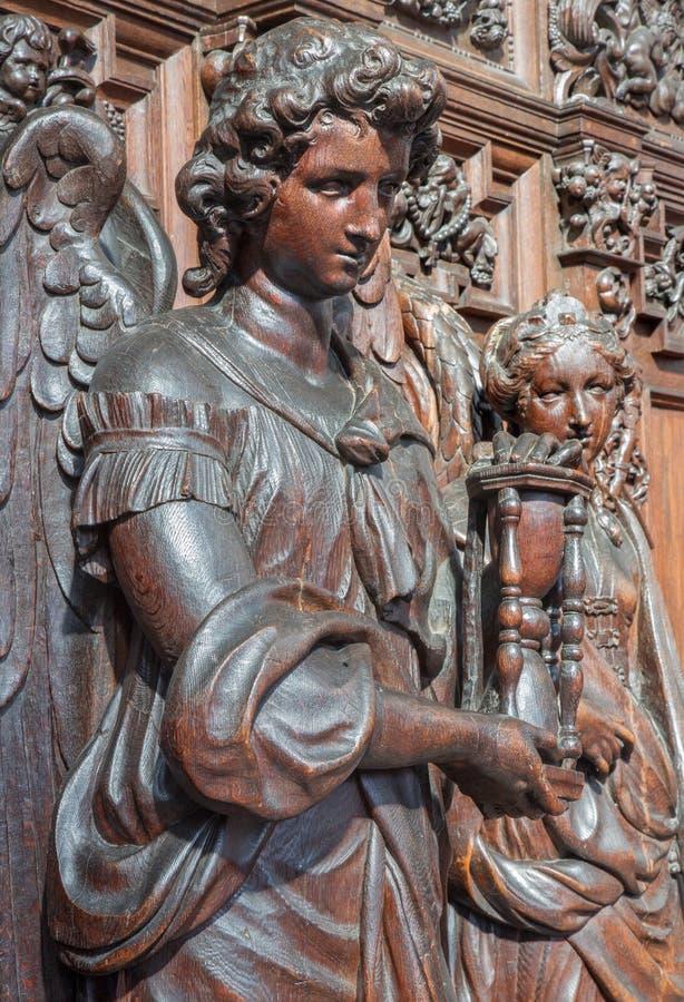 Download Антверпен - статуя ангела как символ надежды - кардинальное Virtous в церков St. Pauls (Paulskerk) Стоковое Изображение - изображение насчитывающей belia, католицизм: 33728481