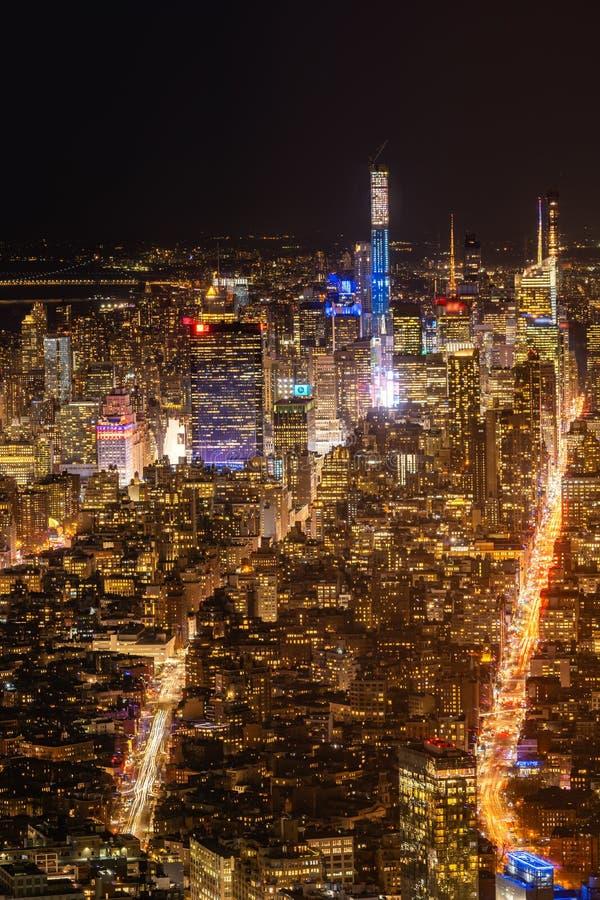 Антенна городка Нью-Йорка средняя стоковые фотографии rf