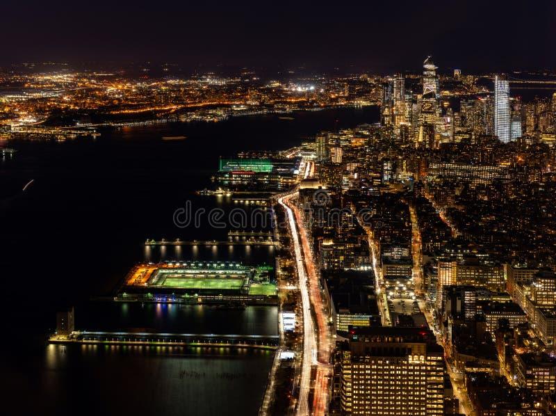 Антенна городка Нью-Йорка средняя стоковое фото rf