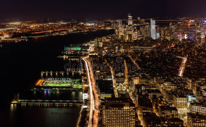 Антенна городка Нью-Йорка средняя стоковые изображения rf