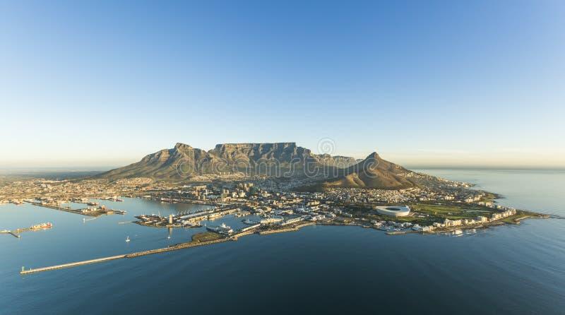 Антенна горы Южной Африки таблицы Кейптауна стоковое изображение rf