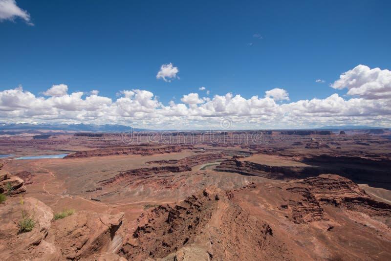 Антенна парка штата пункта мертвой лошади обозревает в Юте Колорадо на фото стоковая фотография