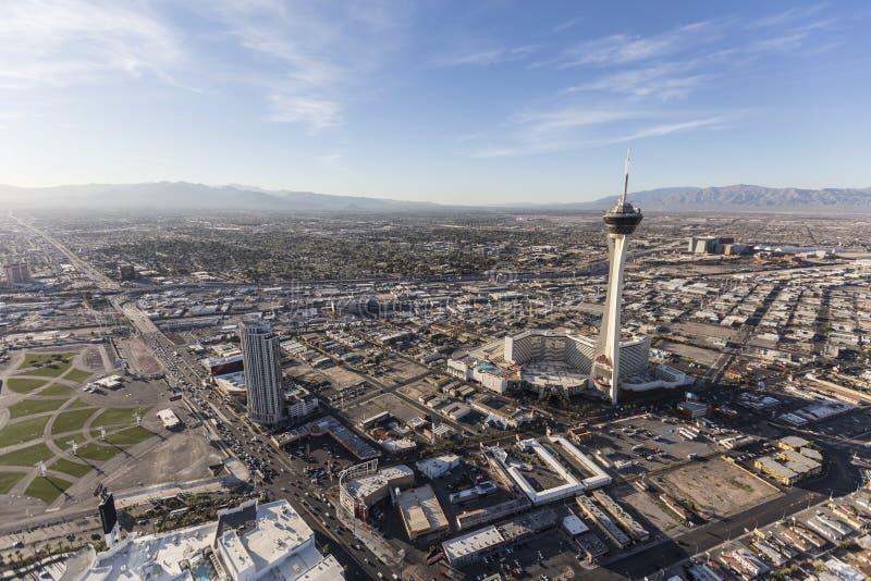 Антенна после полудня Лас-Вегас стоковые фото