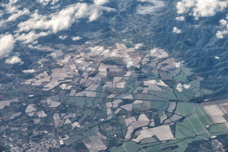 Антенна самолета джунглей Америки стоковая фотография