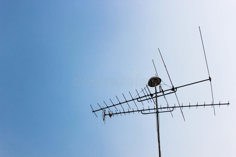 Антенна ТВ стоковая фотография