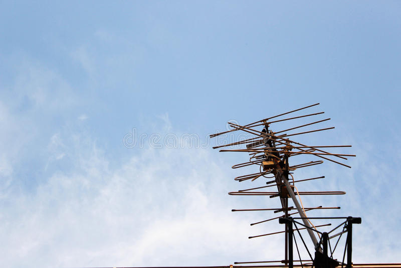Антенна ТВ стоковое фото