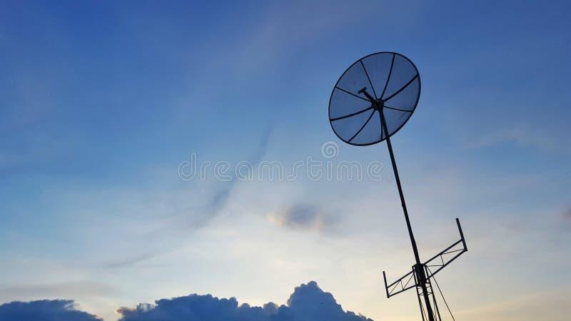 Антенна телевидений стоковое фото