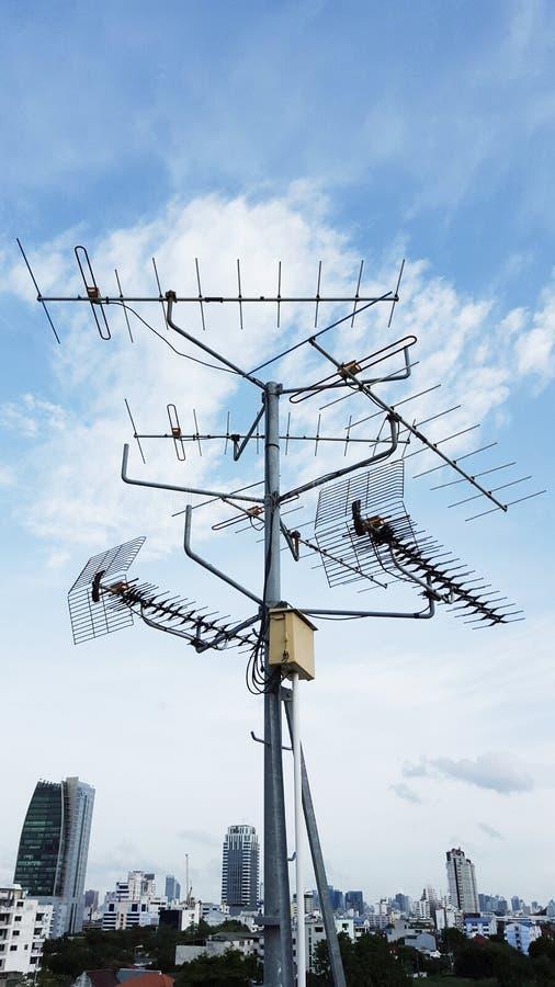Антенна телевидения стоковое изображение