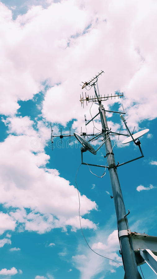 Антенна телевидения стоковое фото rf
