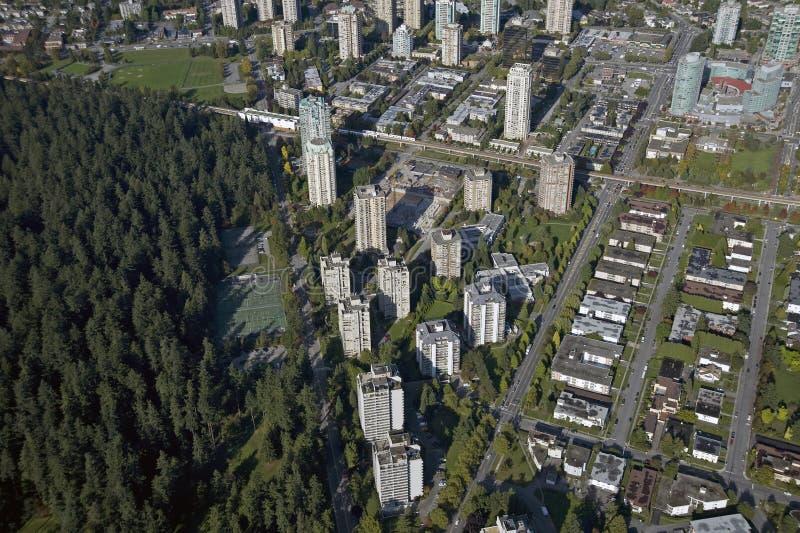антенна bc burnaby Канада стоковая фотография