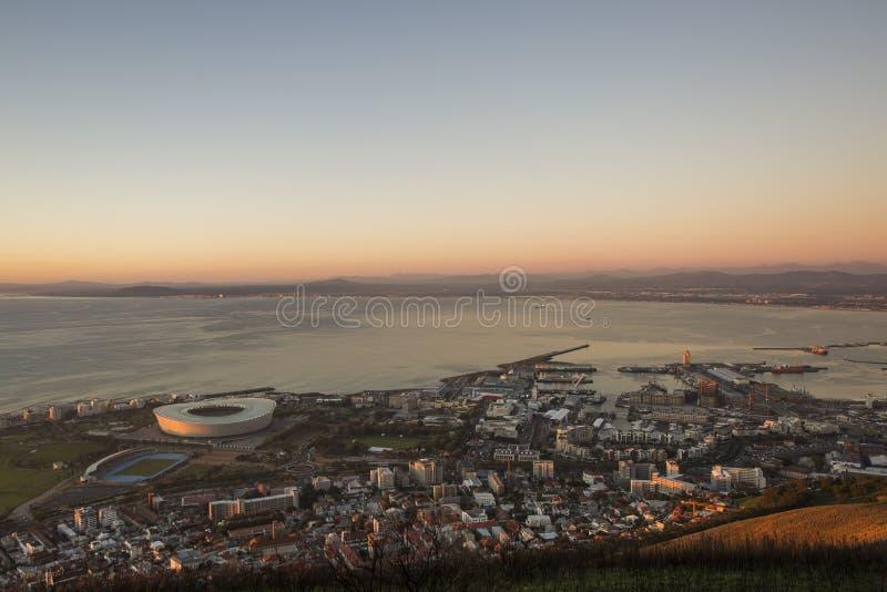 Антенна greenpoint Южной Африки Кейптауна стоковое фото