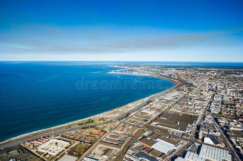 Антенна Port Elizabeth Южной Африки стоковое фото rf