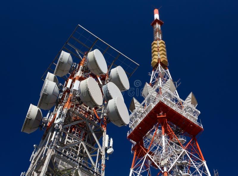 Антенны радиосвязи стоковые фото