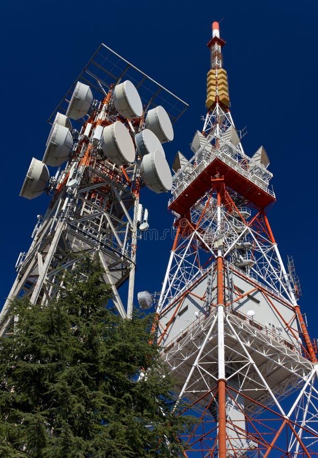 Антенны радиосвязи стоковое фото rf