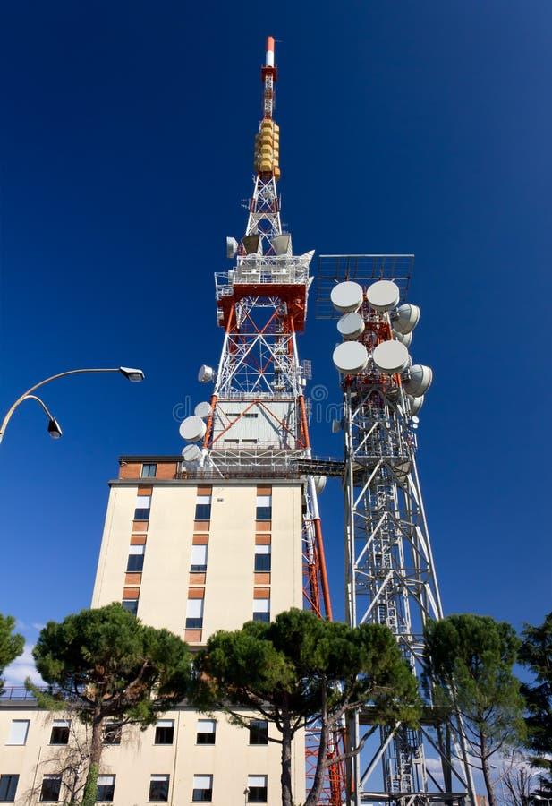 Антенны радиосвязи стоковое изображение