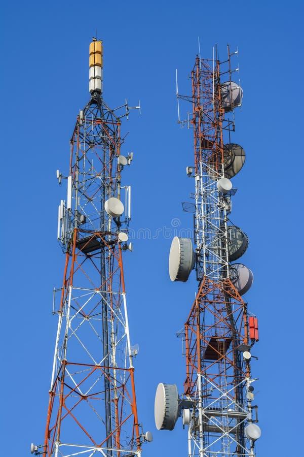 Антенны связи стоковая фотография
