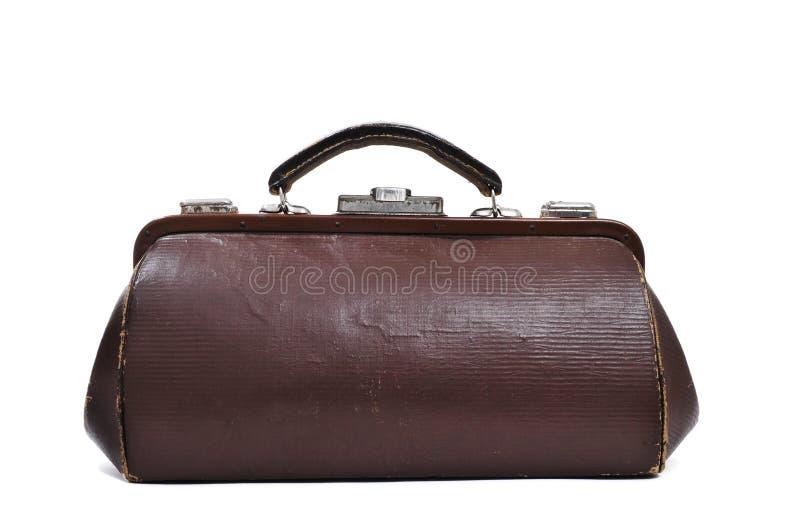 Антиквариат врачует сумку стоковая фотография rf
