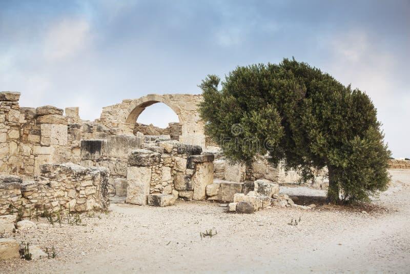 Антиквариат губит археологические раскопки Kourion, район Лимасола, Cy стоковая фотография rf