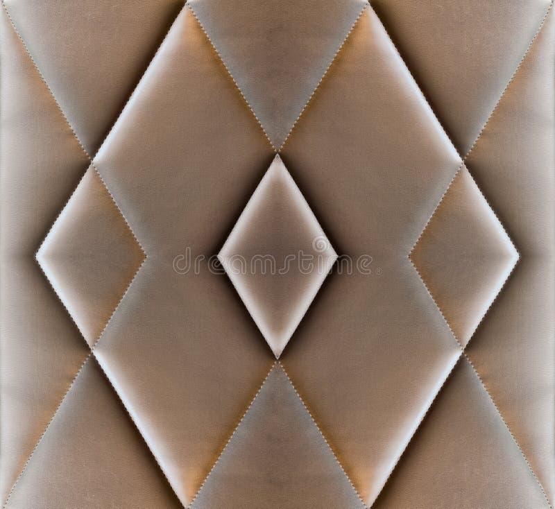 Антиквариат тюфяка пусковой площадки софы текстуры коричневый кожаный стоковые изображения rf