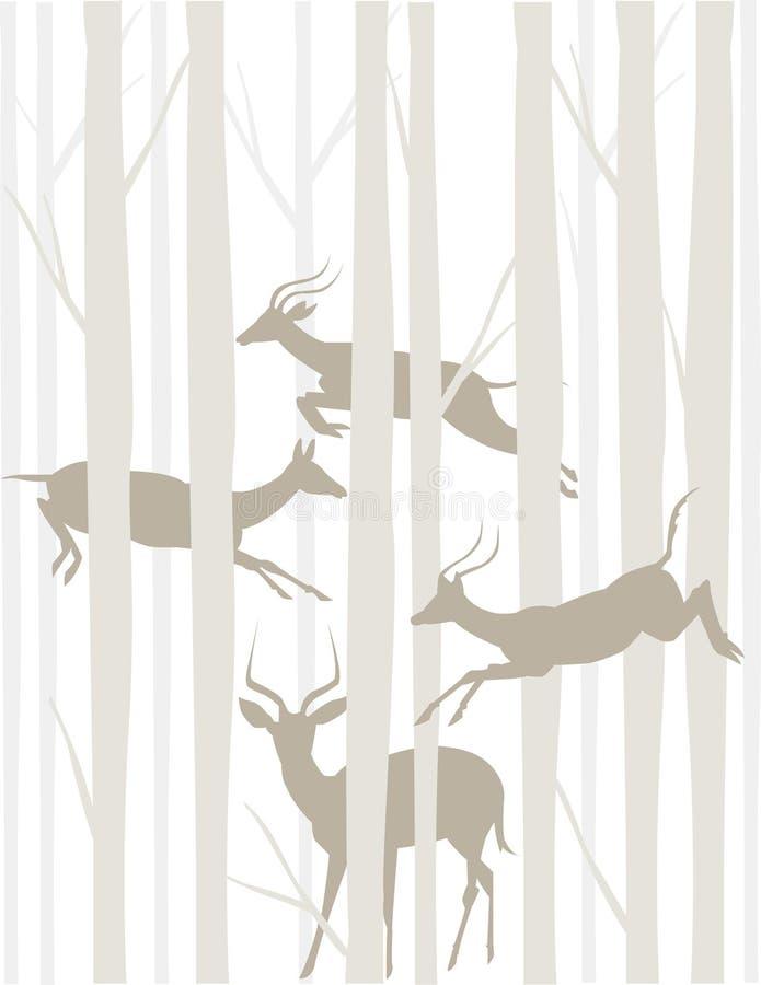 антилопы tonal иллюстрация вектора