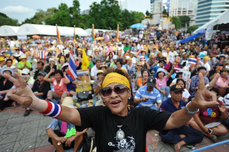 Антипровительственное ралли группы народной армии в Бангкоке стоковая фотография