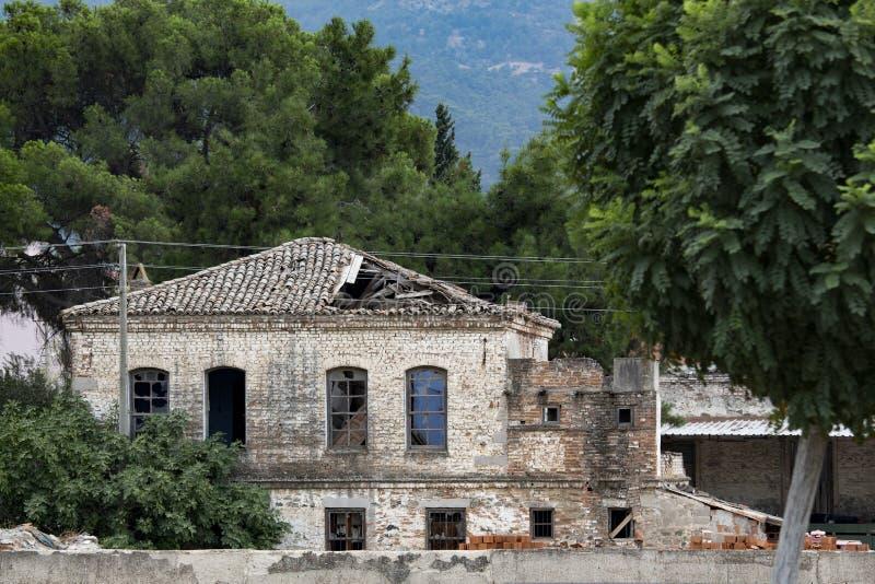 Античная архитектура, историческое здание, античное окно, античная дверь, взгляд окна, взгляд двери, античное facede здания, hist стоковое изображение rf