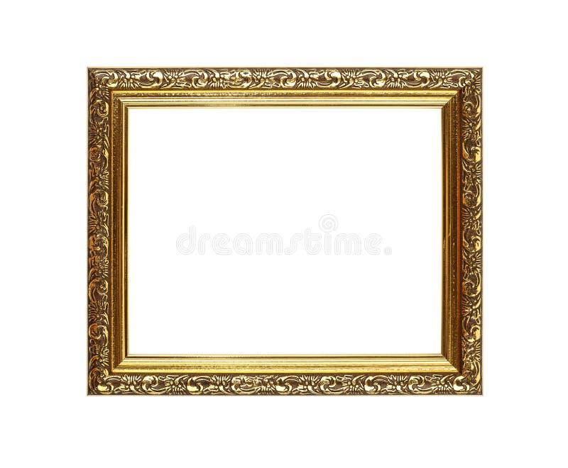 Античная богато украшенная золотая рамка изображения или фото стоковое фото rf