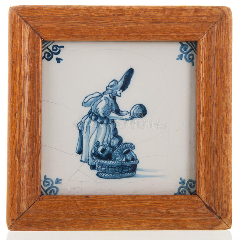 Античная голландская плитка стоковое фото rf
