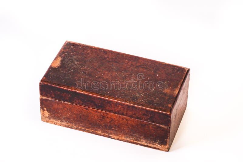 Античная деревянная коробка, старая деревянная коробка стоковые изображения rf