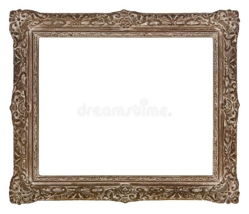 Античная деревянная рамка для фото и искусства стоковое изображение rf