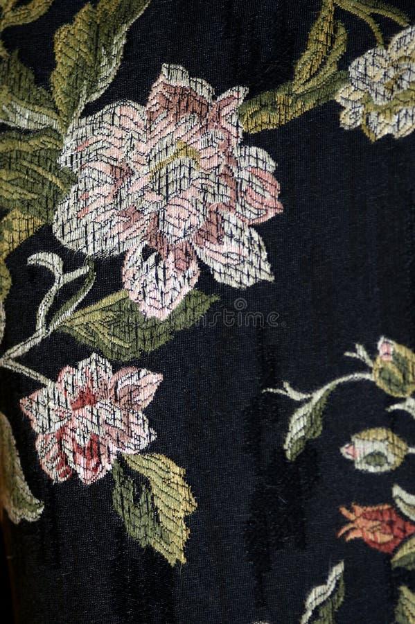 Античная деталь оформления картины цветка ткани стоковые изображения
