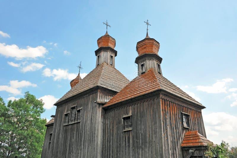 Античная деревянная церковь стоковая фотография