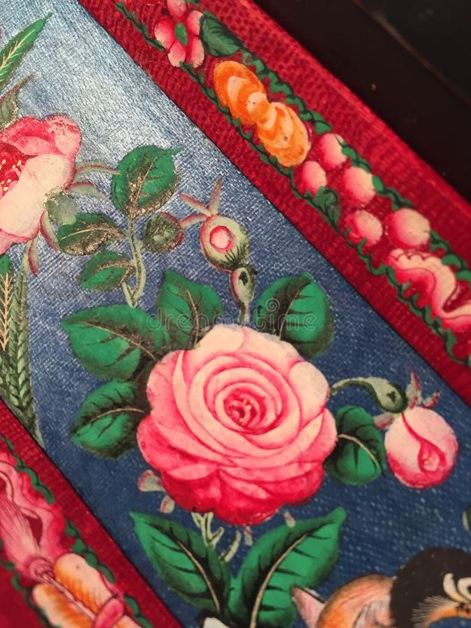 Античная деталь цветка стоковое изображение rf