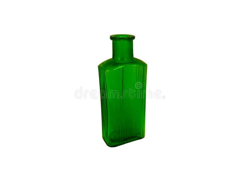 Античная зеленая бутылка отравы стоковые изображения rf