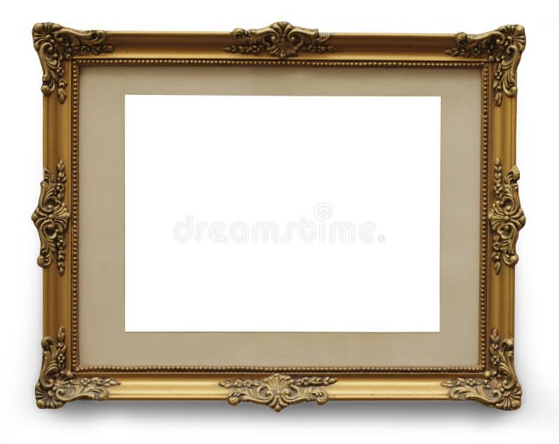 Download Античная золотая картинная рамка с путем клиппирования Стоковое Фото - изображение насчитывающей никто, антиквариаты: 33736988