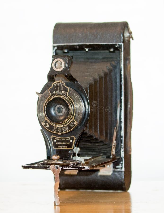 Античная камера складчатости отсутствие 2C стоковые фотографии rf