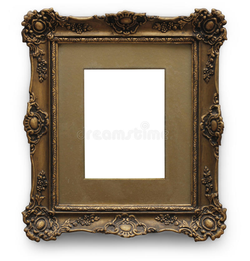 Download Античная картинная рамка с путем клиппирования Стоковое Фото - изображение насчитывающей конструкция, покрашено: 33737230