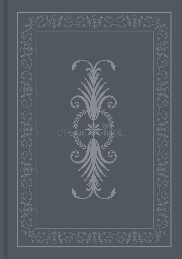 Античная книга крышки Восточный орнаментирует старую рамку иллюстрация вектора