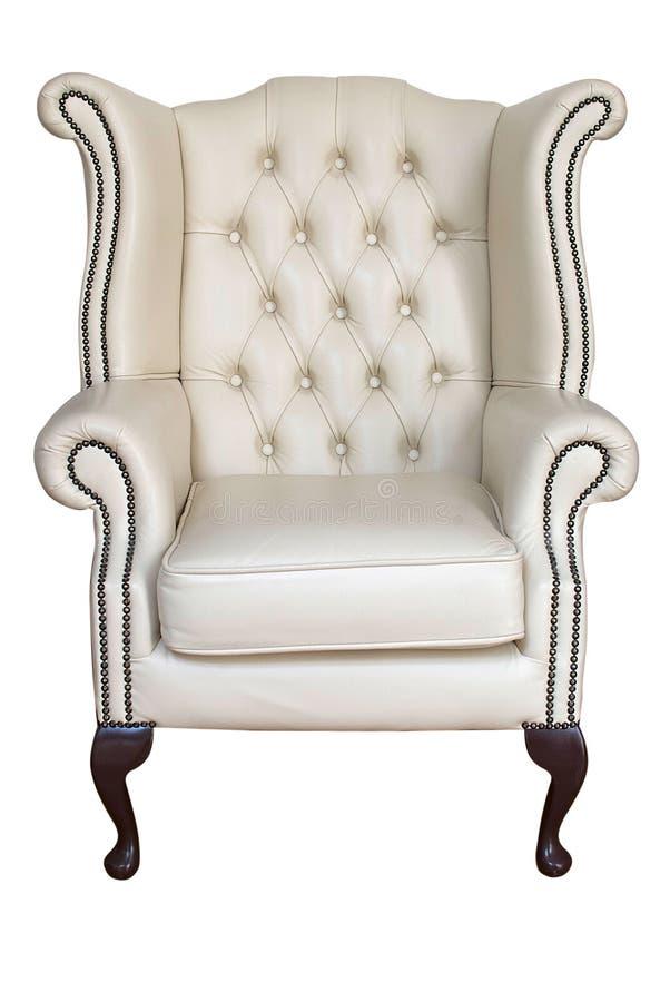 античная кожа кресла стоковое изображение