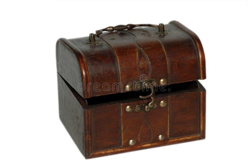 античная коробка украсила древесину стоковое изображение rf