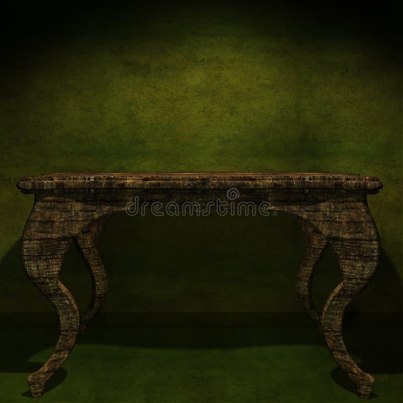 античная мебель деревянная иллюстрация штока