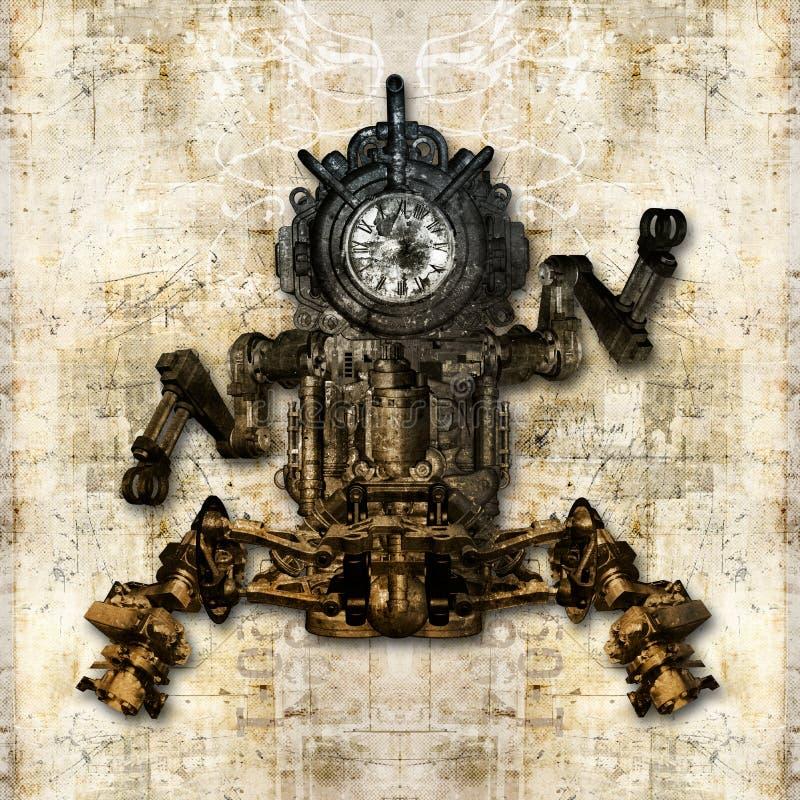 Античная механически диаграмма иллюстрация штока